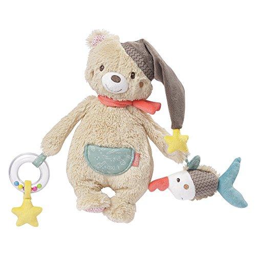 Fehn 060195 Activity-Bär | Motorikspielzeug zum Aufhängen mit Rassel, Glöckchen und Raschelpapier zum Spielen, Greifen und Geräusche erzeugen | Für Babys und Kleinkinder ab 0+ Monaten