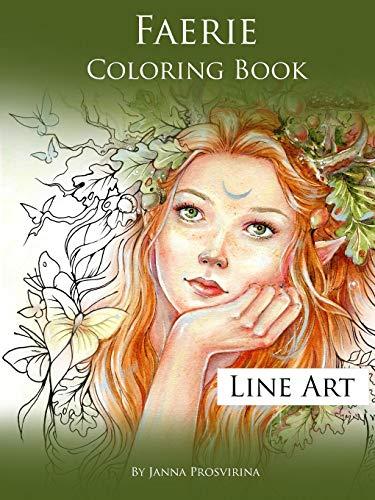 Faerie Coloring Book: Line Art