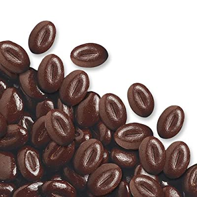 Edible Chocolate Mocca Coffee Beans for Cake / Cupcake Decorations by Candy Toppings