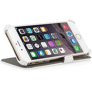 """StilGutUltraSlim V2, Hülle mit Standfunktion für Apple iPhone 6 (4.7""""), weiß vintage"""