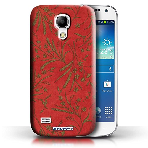 printed-hard-back-case-for-samsung-galaxy-s4-mini-wheat-floral-pattern-collection-red-green