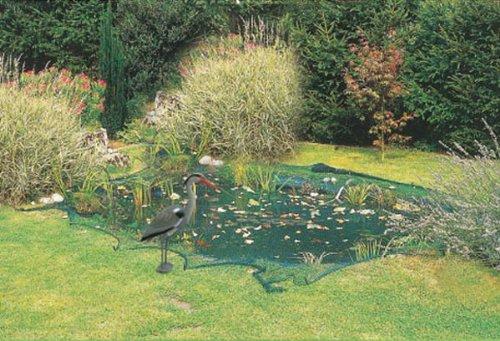 Gartenteichnetz, Teichnetz, Vogelschutznetz, Laubnetz, Vogelnetz, 3 x 6 m