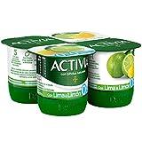 Activia Yogur con Limón 0% - Paquete de 4 x 125 gr - Total: 500 gr