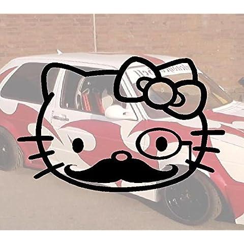 Mustache Kitty Domo Bitch Race Power PS JDM OEM FUN Skin Hater