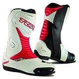 TCX Stivali Moto S Sportour Evo, Bianco/Rosso, Dimensione 43