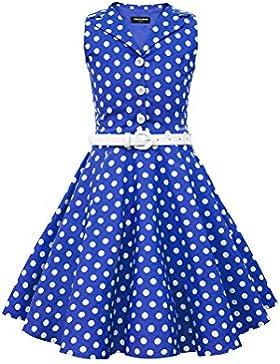 BlackButterfly Kinder 'Holly' Vintage Polka-Dots Kleid im 50er-J-Stil