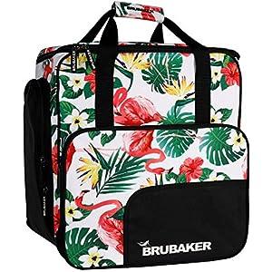 Brubaker CarverSpotlight Skischuhtasche Helmtasche Rucksack mit Schuhfach – Flamingos