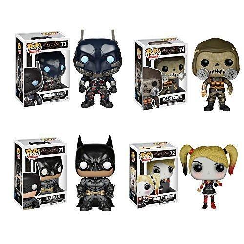 Batman: Arkham Knight Batman, Arkham Knight, Harley Quinn, Scarecrow Pop! Vinyl Figures Set of 4