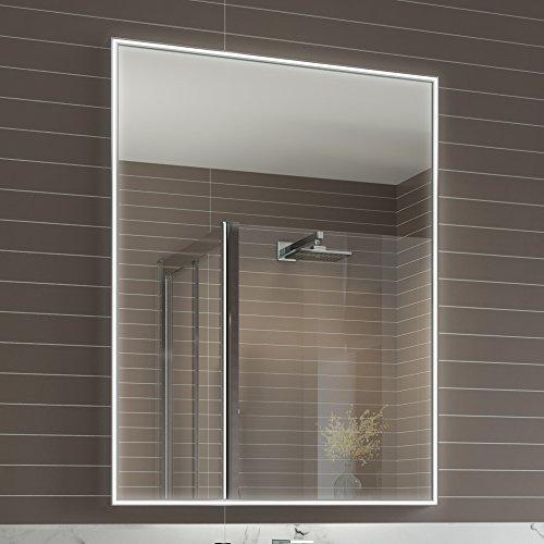 600 x 800 mm designer illuminated led bathroom mirror light sensor 600 x 800 mm designer illuminated led bathroom mirror light sensor demister ml4002 aloadofball Image collections