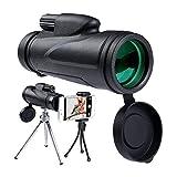 HUTWAN 12x50 Monocular Telescopio De Bolsillo Telescopio De Teléfono Móvil para La Fauna como Observación De Aves Concierto De Viaje Cumpleaños De Cumpleaños Regalo para Novio Regalo