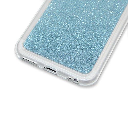 per iPhone 7 4.7 Custodia case,Herzzer Mode Crystal per iPhone 7 4.7 Creativo Elegante Transition Color cover,Protettivo Skin lusso di Glitter Bling Gradiente Colore fuxia,Unico Molto sottile Modeli chiaro blu