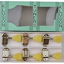Kluson Vintage Tulip Tuners Machine heads 3x3 Nickel 8mm Bushes