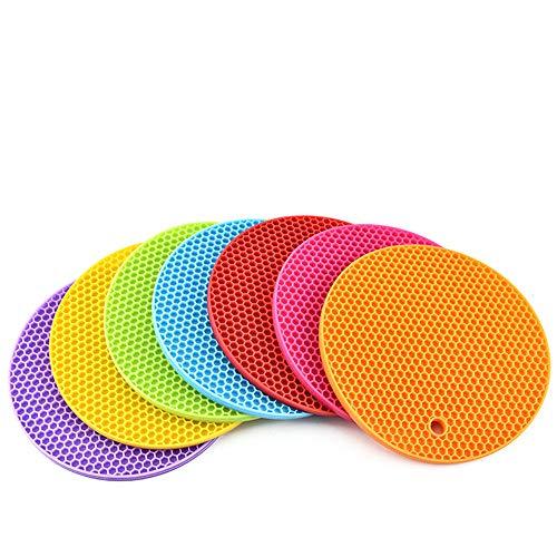 FYX 717,8x 17,8cm Extra Dick Silikon Topfuntersetzer, Hot Pads Silikon Isolierung Matte für Untersetzer , rutschfest, flexibel, robust, Spülmaschinenfest, hitzebeständig Farbe gemischt , Home & Küche verwenden