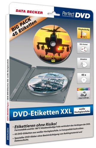 Data Becker 310648 DVD-Label XXL 3on1
