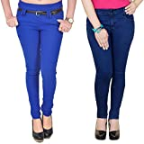 Combo of Blue Jeans & Blue Jegging with ...