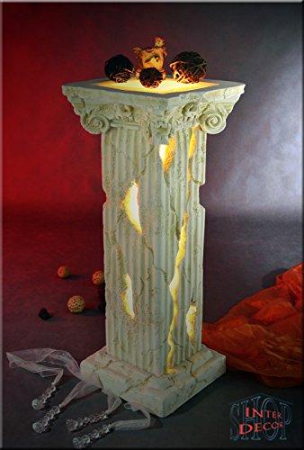 Griechische Säule Lampe Stehlampe Blumensäule Dekosäule Designer Säule mit Licht (Griechische Lampe)