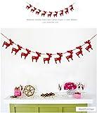RayLineDo 1 stück rote Girlande für Hochzeit Geburtstag Jubiläum Party Weihnachten Mädchen Zimmer Dekoration Hirsch Form