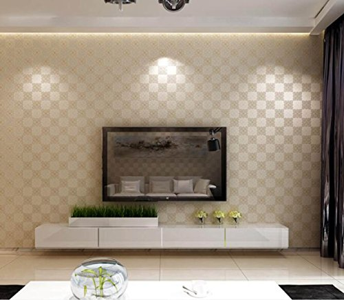 CCFENG Modern Minimalist Three Dimensional Plaid Wallpaper Bedroom Living  Room Restaurant Non Woven Wallpaper