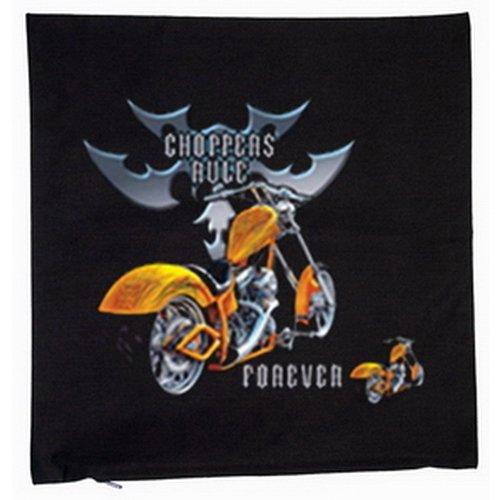 Choppers Rule Forever Forever Bike USA Cruiser Motiv 40x40cm Kissenbezug in schwarz (Cruiser Bike Shirts)