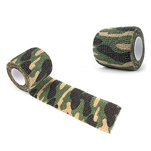 SQUAREDO Camouflage Wrap Tape, 1 Rolle Outdoor Militär Schutz Camouflage Selbstklebendes Gewebeband, 2#, 4.5M*5CM -