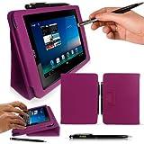 """Acer Iconia B1 7"""" Tablet Case / Schutzhülle in LILA mit integrierter Standfunktion von G-HUB® - PropUp Stand Hülle / Fall / Tasche / Folio für Acer Iconia B1-A71 - Jetzt mit BONUS: G-HUB ProPen Stylus"""