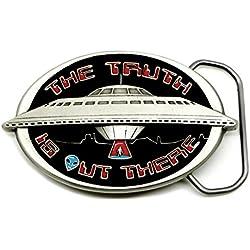 OVNI Hebilla de Cinturón - Ajeno La Verdad Está Ahí Fuera - Temática de Ciencia Ficción - Auténtico Great American Producto de Marca