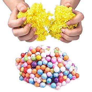 Vi-go, Mini Styropor Bälle Für Schlamm, Tiny Schaum Perlen Für Floam, Für Diy Kreative Handwerk Hochzeit Und Party Decarations, 0,1-0,18 Zoll, 42000 Stück (8pack 8color) 2
