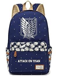 CoolChange Attaque sur Titan Cosplay dos Shingeki No Kyojin de sac d'école Noir