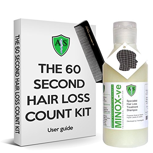 Haarausfall Zählen Kit. 60zweite Haarausfall Messung Set. Ihre Behandlung zu Hause mit diesem genormten Test. Geeignet für alle Home mit Behandlung.
