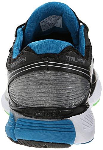 Saucony Triumph 12 Scarpe da Corsa, Blu / Giallo / Arancione Grigio