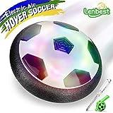 Lenbest JT811 Air Power Fußbal Hover Ball, für Kinder Haustiere, Training, Drinnen und Draußen, mit Weichen Schaumstoff-Stoßstangen und bunten LED-Lichtern, Schwarz / Weiß