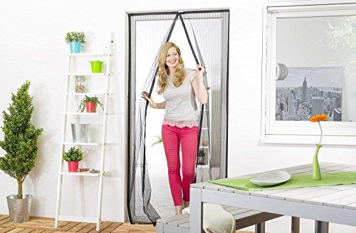 Insektenschutz-Magnetvorhang: Fliegengitter mit Magnetverschluss für Türen bis 100 x 220 cm, verschließt automatisch, mit Klettband zu montieren