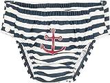 Playshoes Baby - Jungen Schwimmwindel UV - Schutz Windelhose Maritim zum Knöpfen 460109, Gr. 62 (Herstellergröße: 62/68), Blau (Marine/Weiß 171)