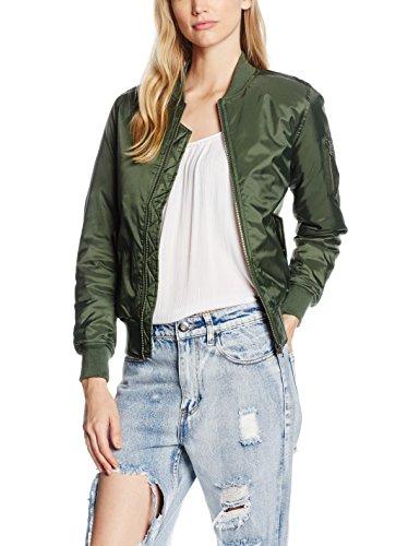 Urban Classics Damen Jacke Ladies Basic Bomber Jacket, Grün (Olive 176), 40 (Herstellergröße: L)