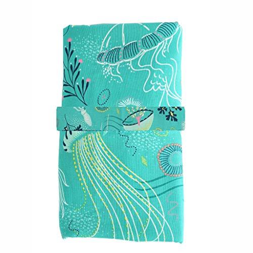 Wickelunterlage für Unterwegs Serria® Wiederverwendbare Abwischbarer Matte wasserdichte,hautfreundlich,Leichtgewicht,Tragbare und Faltbare Windelmatte für Baby auf Reise Grün 60CMx35CM