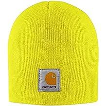 Carhartt Gorro de Punto Cap - Amarillo Sombrero Gorra Beisbol Logotipo  A205BLM CHA205BLM d52a23b966d