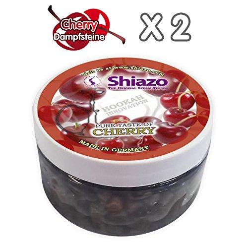 Shiazo 2x 100gr. Dampfsteine Kirsche - Stein Granulat - Nikotinfreier Tabakersatz 100g