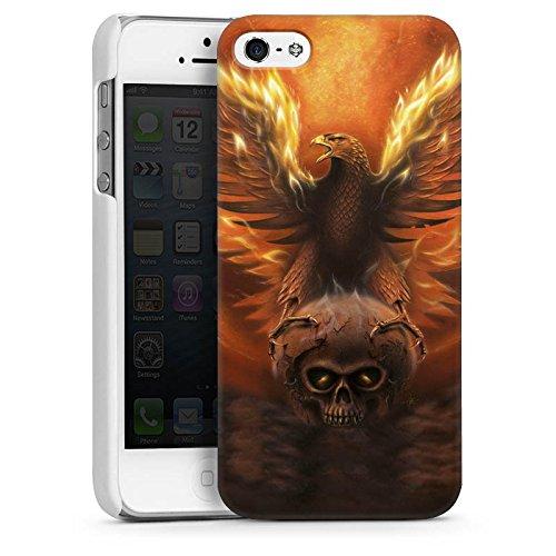 Apple iPhone 4 Housse Étui Silicone Coque Protection Aigle Aigle Phénix CasDur blanc