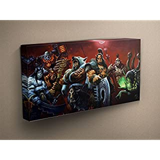 World Of Warcraft Stretched & Mounted Canvas Art Print - Perfect Gift - 50 x 28
