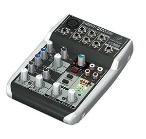 BEHRINGER XENYX Q502 USB MIXER AUDIO 5 CANALI PER LIVE, KARAOKE, HOME-STUDIO