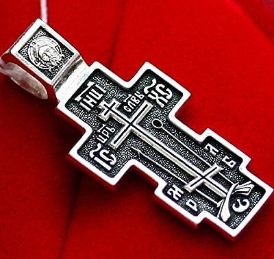 Kreuz Orthodoxe russischen Alten Gläubigen Silber 925DM 49