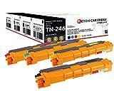 4 Original Reton Toner je 2.800 Seiten CYM, Schwarz 3.200 Seiten als Ersatz für TN242bk TN242c TN242m TN242y für Brother HL-3142cw HL-3152cdw HL-3172cdw MFC-9332cdw MFC-9142cdn MFC-9342cdw DCP-9022cdw