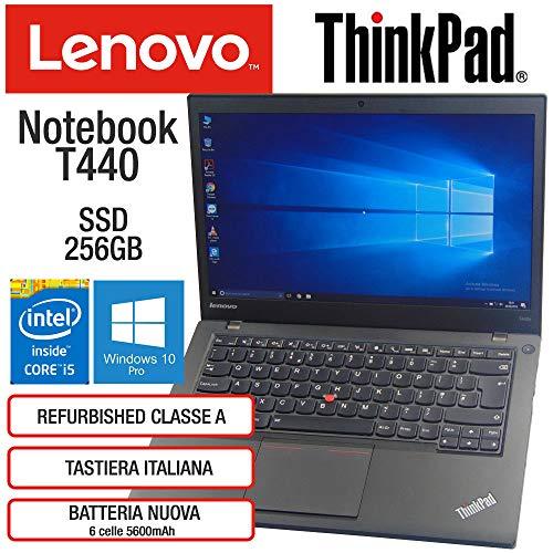 Lenovo ThinkPad T440 Intel Core i5-4300U 8GB RAM Scheda Video Intel HD SSD  256GB Display 14