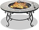 CENTURION Supports fireology Ginessa Garten Heizung/Fire Pit/Couchtisch/Grill/Ice Bucket–Mosaik Keramik Oberfläche