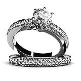 AmDxD Schmuck Benutzerdefinierter Ring Damen Ringe 925 Sterling Silber Antragsringe Zirkonia Gr.62 (19.7)