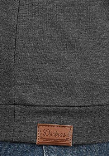 DESIRES Vicky Zipper Damen Sweatjacke Jacke Sweatshirtjacke Mit Stehkragen, Größe:L, Farbe:Dark Grey Melange (8288) - 5