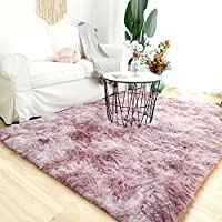 Modern Shaggy Rugs Fluffy Soft Touch Dazzle Sparkle Area Rug Carpet Large for Living Room Bedroom Floor Mat (Cute Pink,60 x 160cm)
