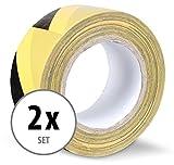 Stagecaptain WT-5050BY Nastro avvertenza pericolo 50 m nero/giallo 2 pezzi