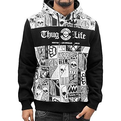 Thug Life Broon Hoody White/Black 4XL