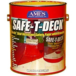 Ames Safe-T-Deck Skid Resistant Safety Paint Water Based Semi Gloss Tintable White Base 1 Gl by Ames Research Laboratories